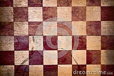 Red Checkered Grunge