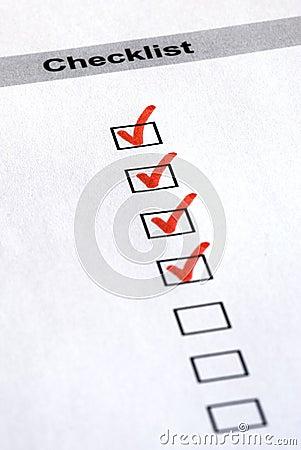 Red checklist