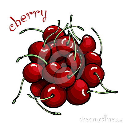 Free Red Cherries. Stock Image - 96704941