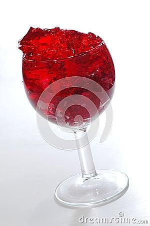 Red cherry gelatin dessert