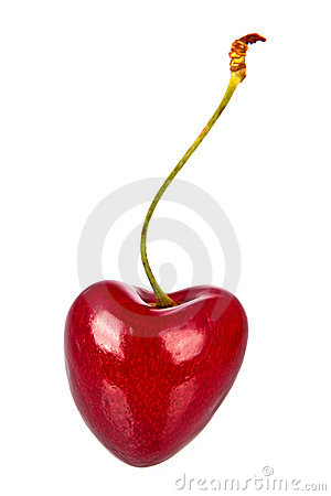 Red cherry heart