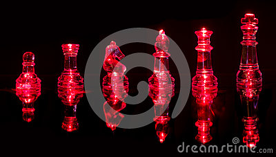 Red chess pieces
