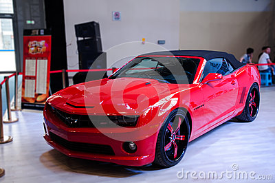 A red Chevy car Editorial Stock Image