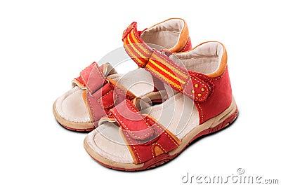 Red Child Sandals
