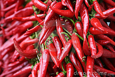 Red chili pepper strings