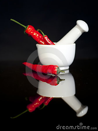 Free Red Chili Peppers Stock Images - 21651914