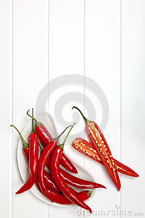 Red Chili Peppers Food Background