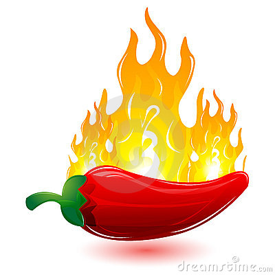Free Red Chilli With Fire Royalty Free Stock Photos - 17541738