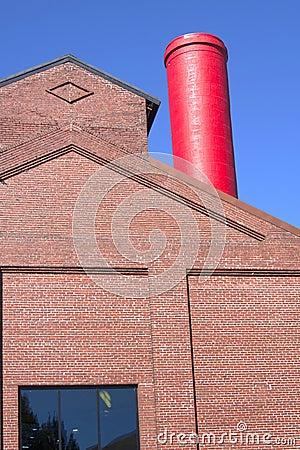 Red chimney.