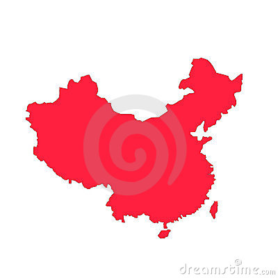 Red china outline
