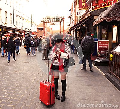 Free Red Chinatown London Style Stock Photography - 108723522