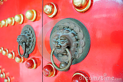 Red Chinese Door in Hong Kong