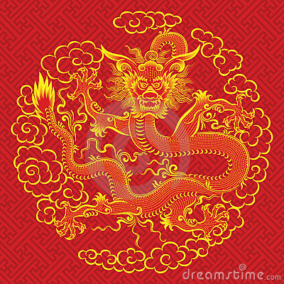 Free Red Chinese Dragon Stock Images - 13216334