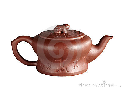Red chinese teapot