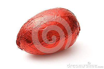Red chocolate Egg