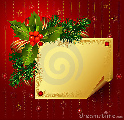 Red Christmas backdrop