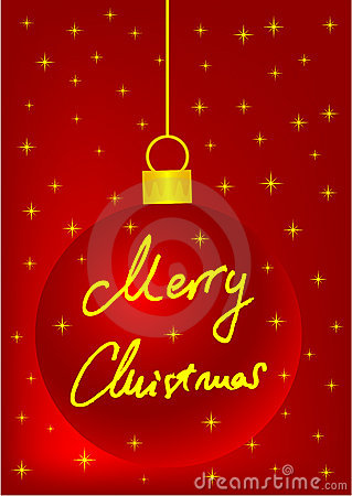 Red Christmas Background With Ball Stock Photo - Image: 16857010