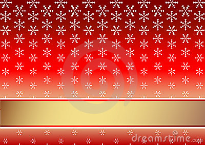 Red christmas background with snowflakes (vector)