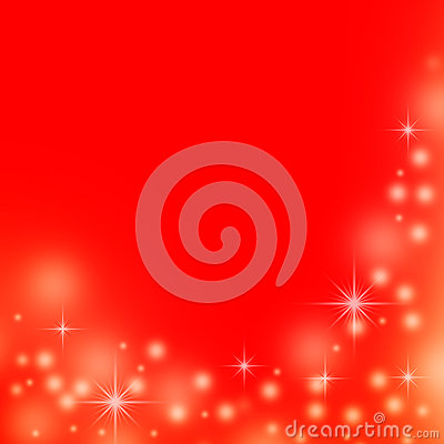 Red christmas background with white lights