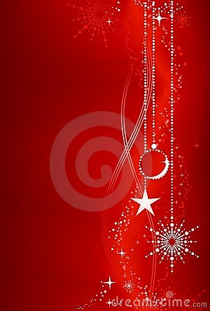 Free Red Christmas Background With Ornaments Royalty Free Stock Photos - 11775738