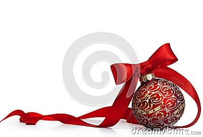 Red Christmas bal