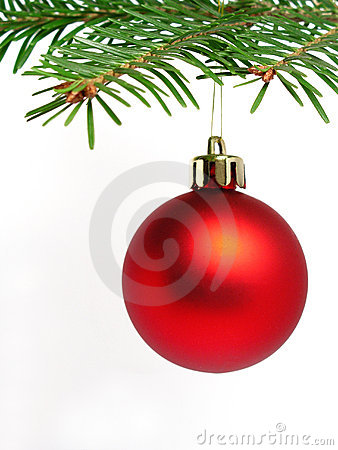 Free Red Christmas Ball Stock Image - 226351