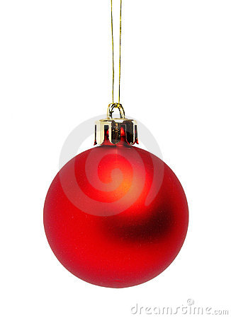 Free Red Christmas Ball Stock Photography - 249782