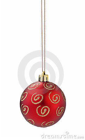 Red christmas ball cutout