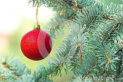 Red Christmas ball - Merry Christmas