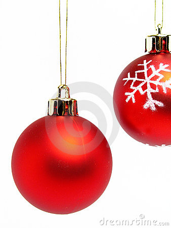 Free Red Christmas Balls Stock Photos - 249783
