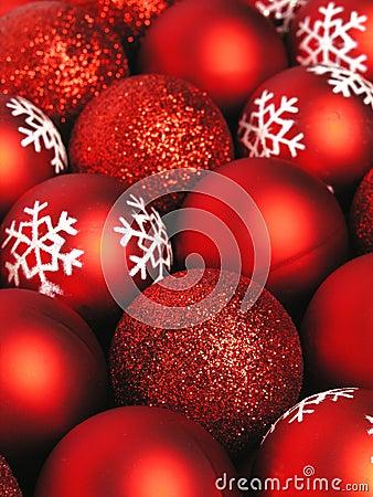 Free Red Christmas Balls Stock Photo - 251310