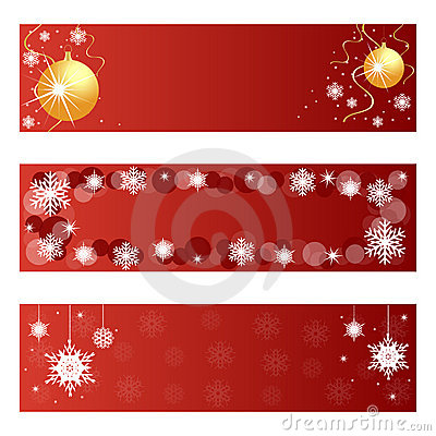 Free Red Christmas Banners Royalty Free Stock Images - 16303179