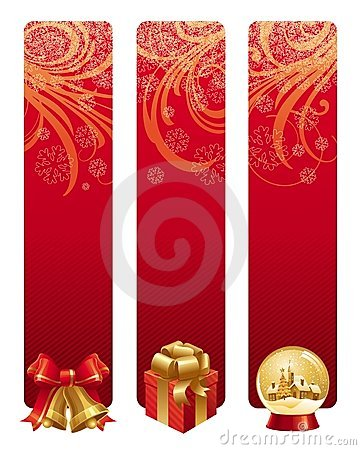 Free Red Christmas Banners Stock Images - 6786724
