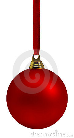 Free Red Christmas Bauble Royalty Free Stock Images - 5941929