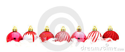Red Christmas Bauble Border