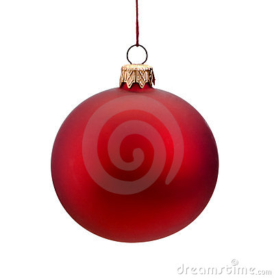 Free Red Christmas Bauble Isolated Royalty Free Stock Image - 16530926