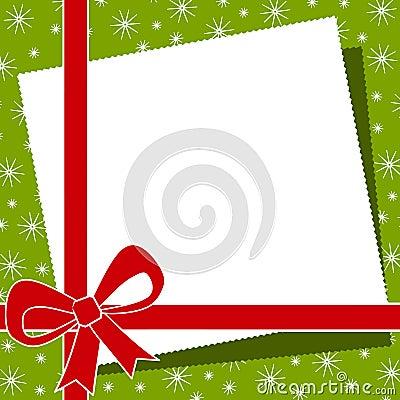 Free Red Christmas Bow Border Stock Photo - 3551010