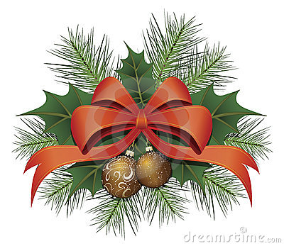 Red Christmas Bow Ribbon