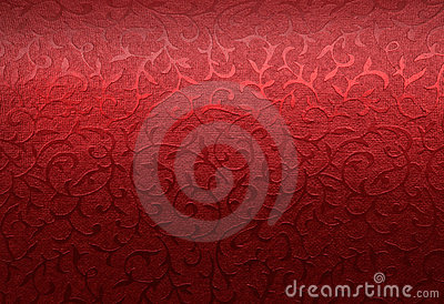 Red Christmas brocade pattern