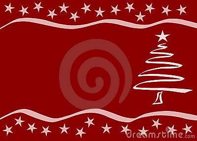 Red Christmas card. Vector