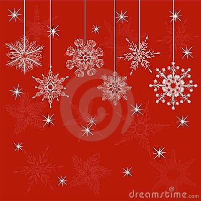 Red christmas card in vector