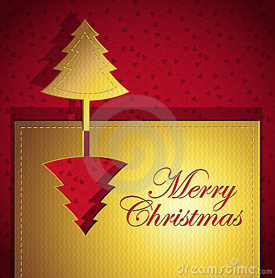 Red Christmas creative trendy card