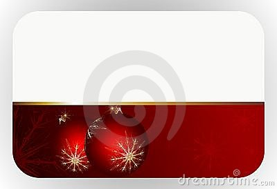 Red christmas gift card