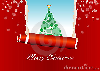Red christmas greeting card