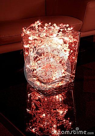 Red christmas light bowl