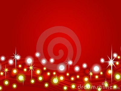 Red Christmas Lights Background 2