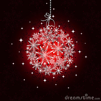 Red Christmas ornament ball