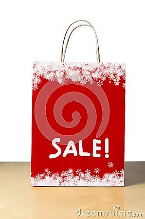 Free Red Christmas Sale Bag Stock Photos - 35655133