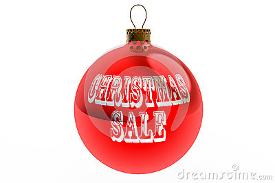 Red Christmas Sale Bauble