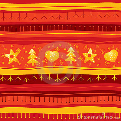 Red Christmas seamless background